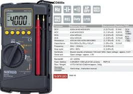 Jual Sanwa Digital Multimeter Cd800a Manual Harga Murah