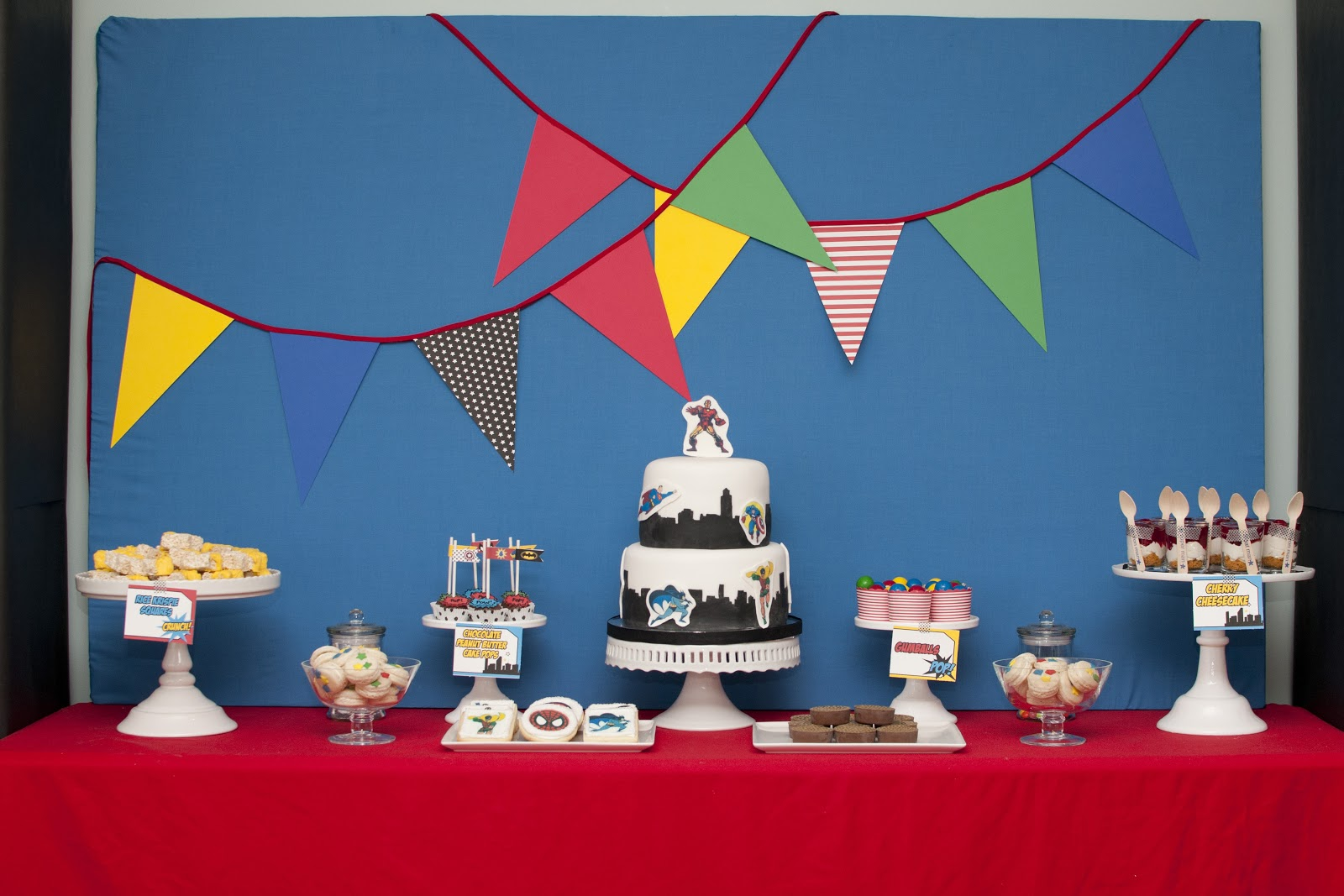 Candy And Cake Jadon S Superhero Party