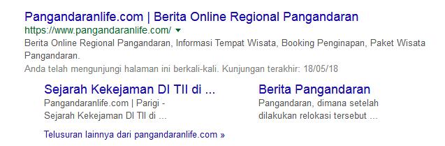 Sitelink hasil seo drupal