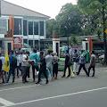 HMI dan PMII Gelar Unjuk Rasa ke Kantor KPU Lebak