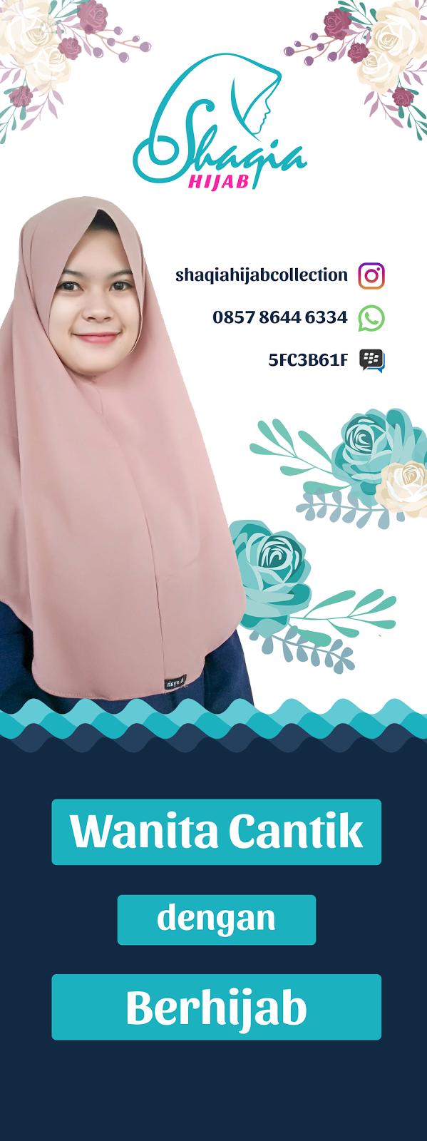 Desain Stand Banner Hijab - Desain Grafis Kreatif