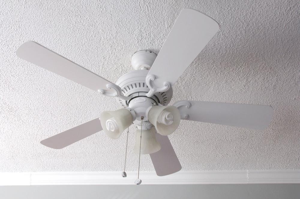 Pretty White Ceiling Fans: Cozy Little Cave: Ceiling Fan Face Lift