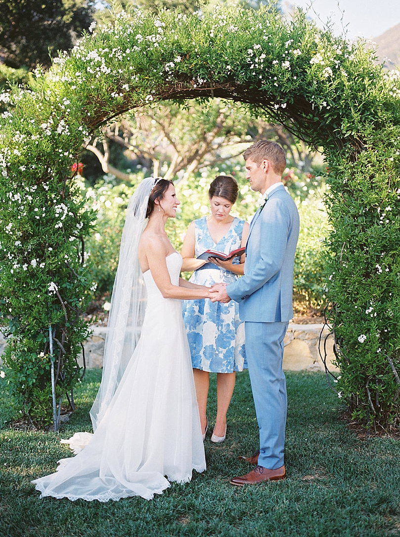 A Romantic And Intimate Garden Wedding At San Ysidro Ranch