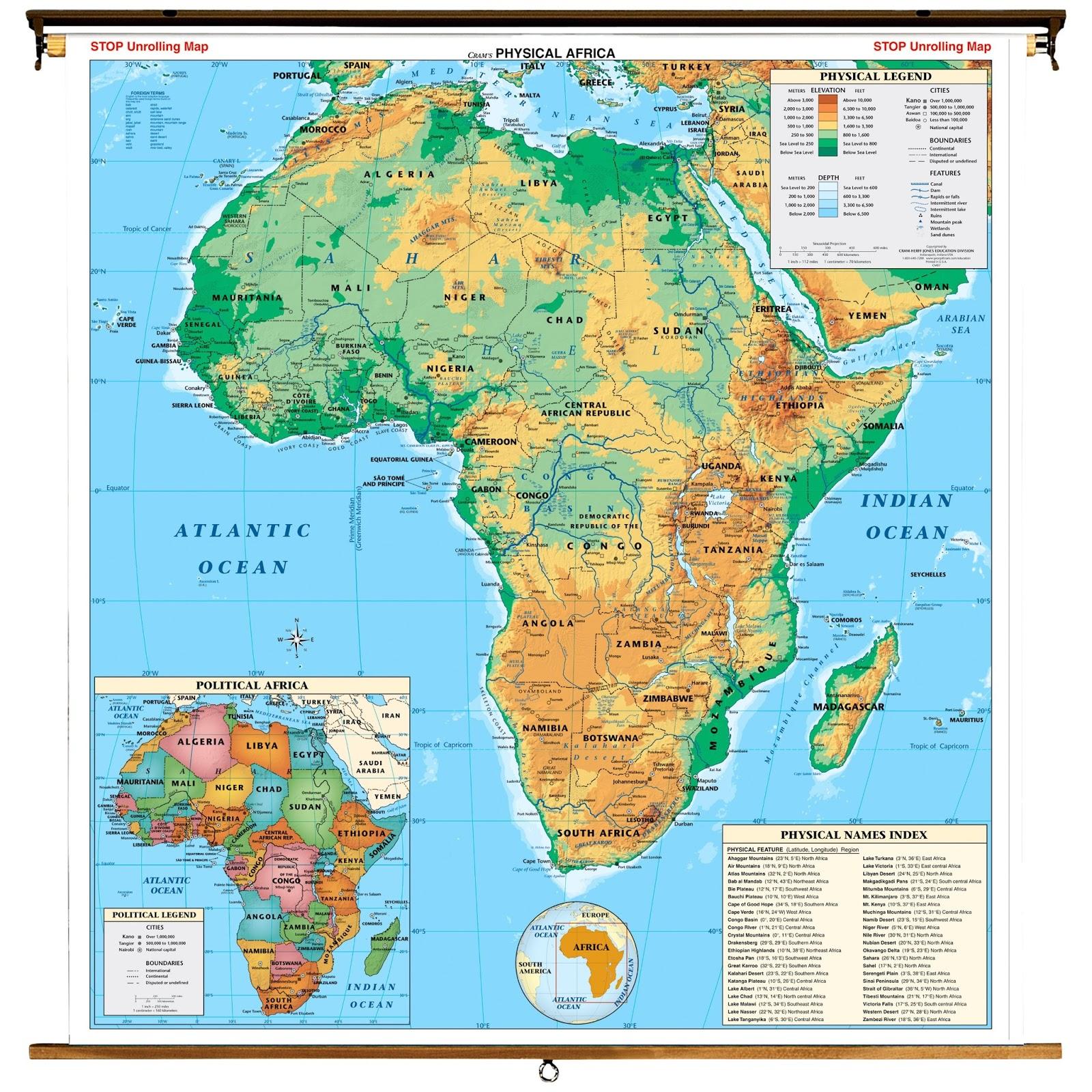 Mapa De Africa Interactivo.Mapa Interactivo Africa Fisico Mapa