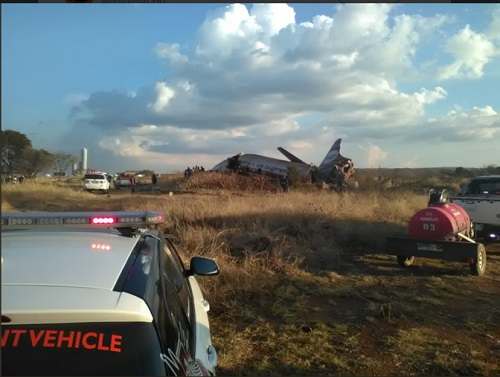 PHOTOS: Plane Crash In South Africa, Passengers Injured