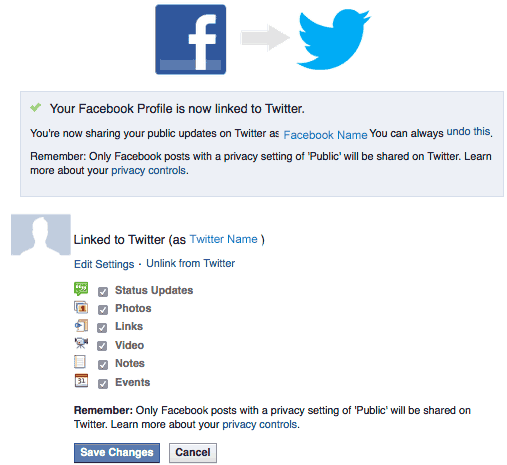 How To Connect Facebook Page To Twitter Account<br/>