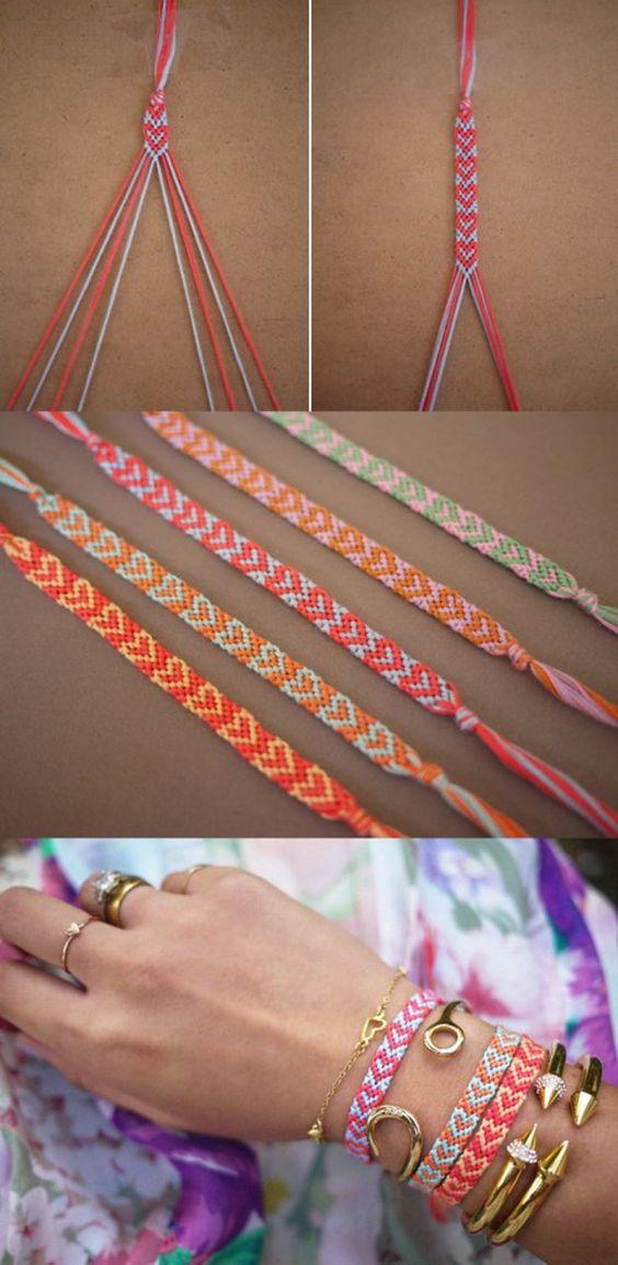 #DIY Heart Friendship Bracelet