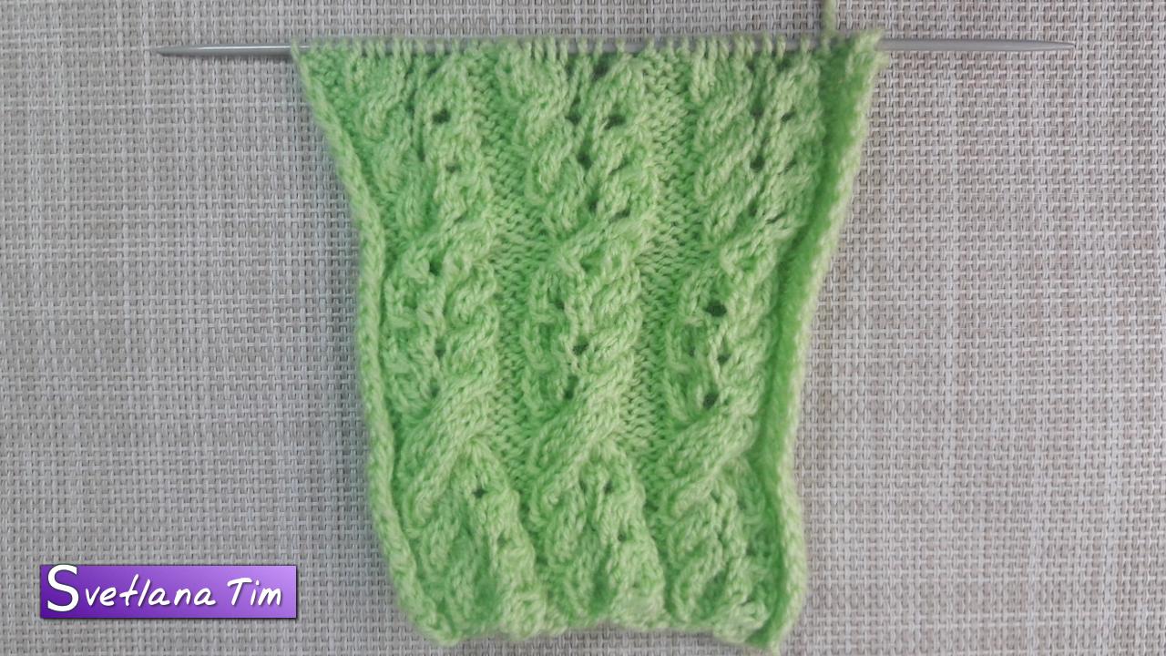 вязание накид петли
