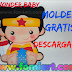 Wonder Woman Moldes Gratis