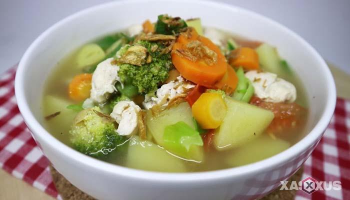 Resep cara membuat sayur sop ayam