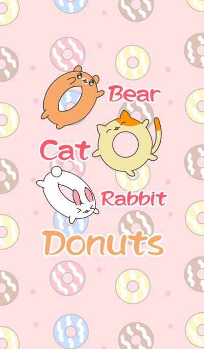 熊猫ウサギ:ドーナツパーティ