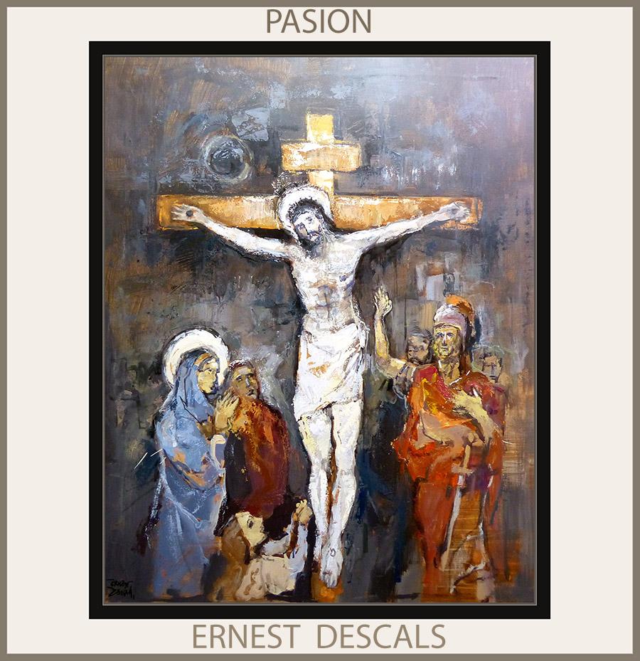 PASION-PINTURA-ARTE-PINTURAS-RELIGIOSAS-JESUCRISTO-CUADROS-PINTOR-ERNEST DESCALS-