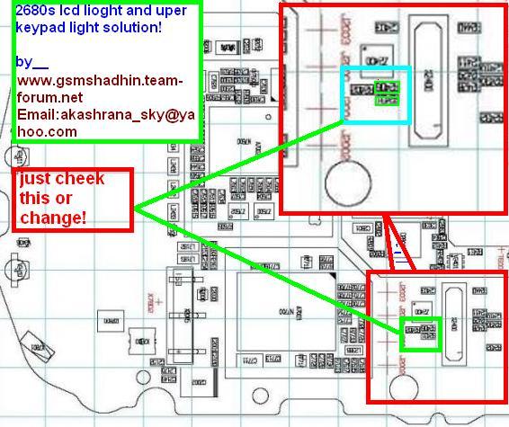 Nokia 2680 Upper LCD Light Problem Solution  dizzysenses