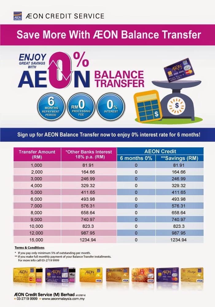 Kabee's blog: AEON credit service Balance Transfer -- 免利息免手續費