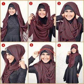 Model Hijab Segi Empat Untuk Lebaran Idul Fitri 2017