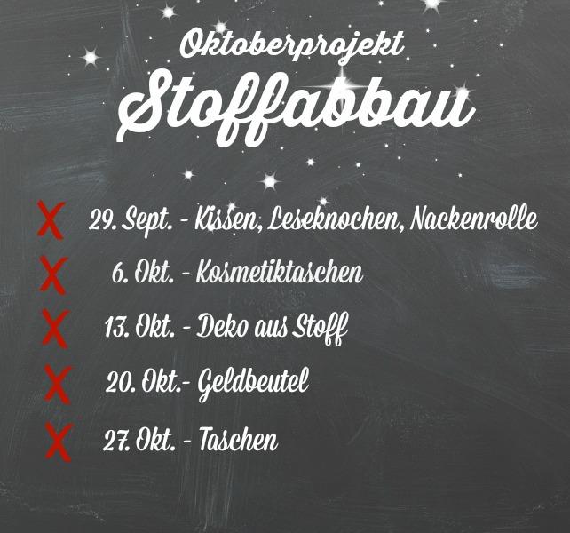 Oktoberprojekt Stoffabbau mit Emma Zeitplan