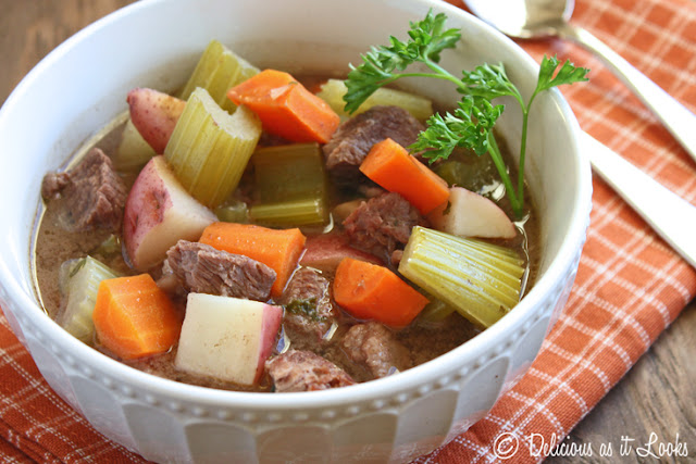 Low-FODMAP Slow Cooker Beef Stew  /  Delicious as it Looks