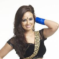hot ethnic dress Sana khan showing hot navel photo gallery