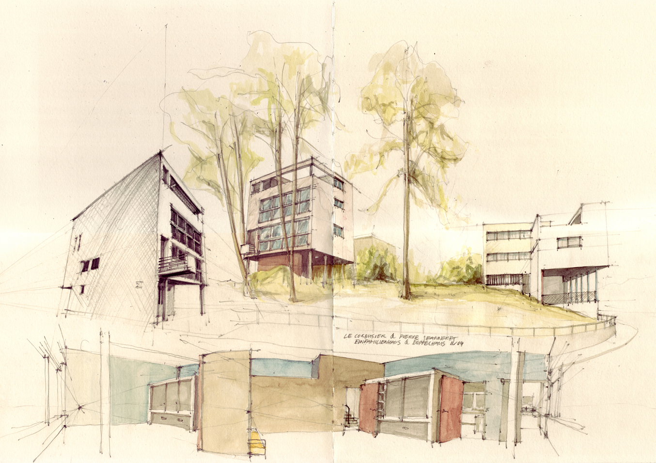 this is the related images of Famous Architectural Drawings