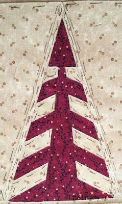 Dear Jane Quilt - Border Block TR2 Australian Pines