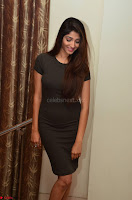 Priya Vadlamani super cute in tight brown dress at Stone Media Films production No 1 movie announcement 066.jpg