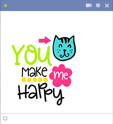 You Make Me Happy Sticker Image