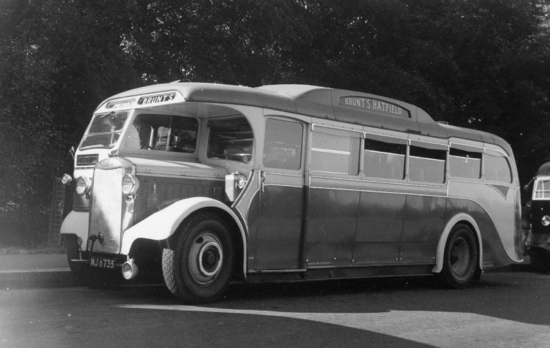 Photograph of a Brunt's Coach 1950 Image by Ron Kingdon