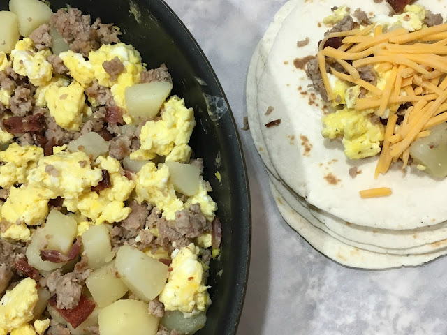 Breakfast burritos from Chasing Saturdays