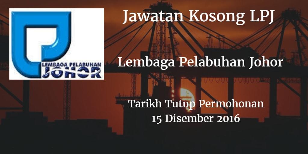 Jawatan Kosong LPJ 15 Disember 2016