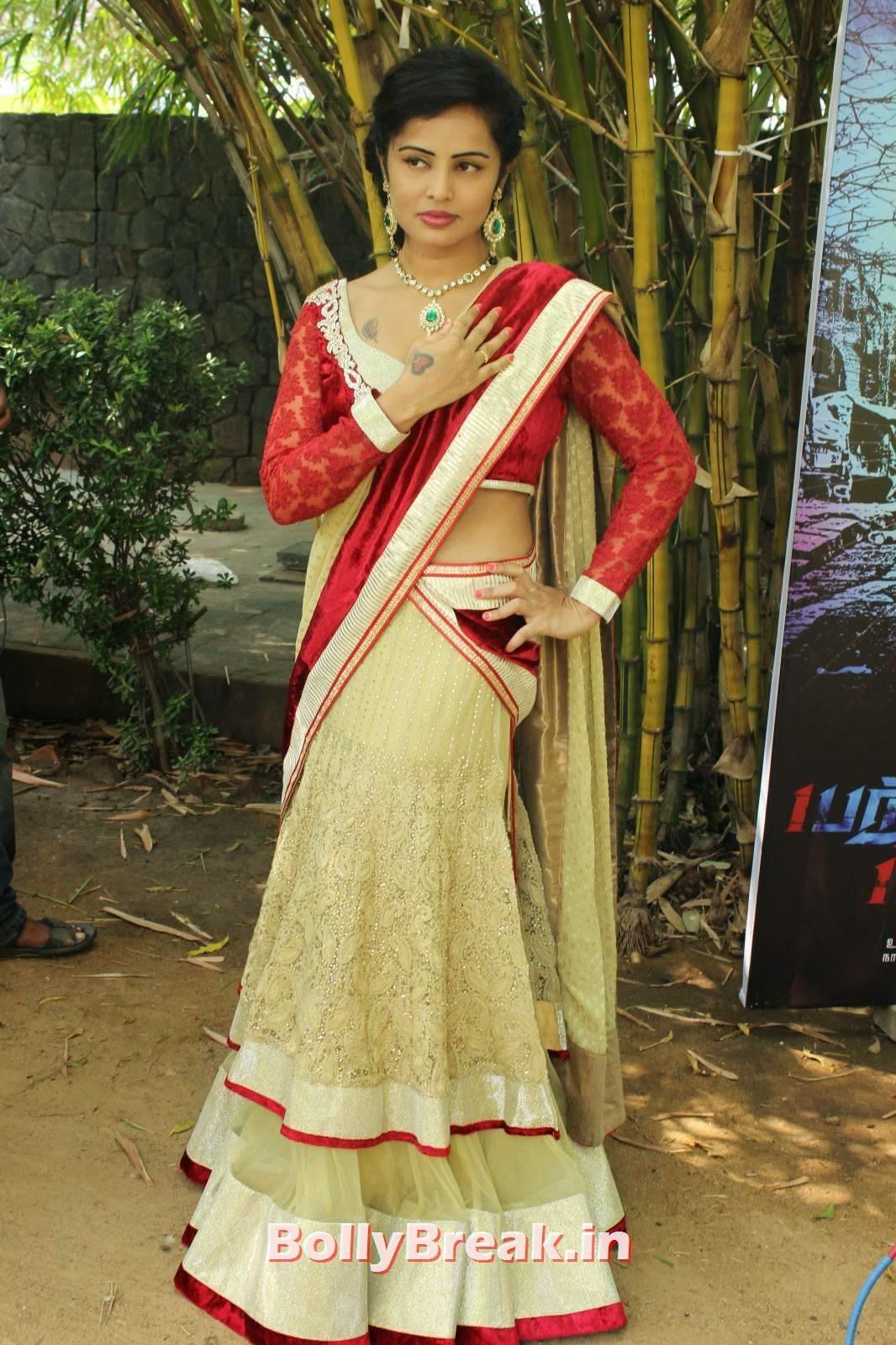 Hashika Dutt Pics, Actress Hashika Dutt hot Pics in low waist saree