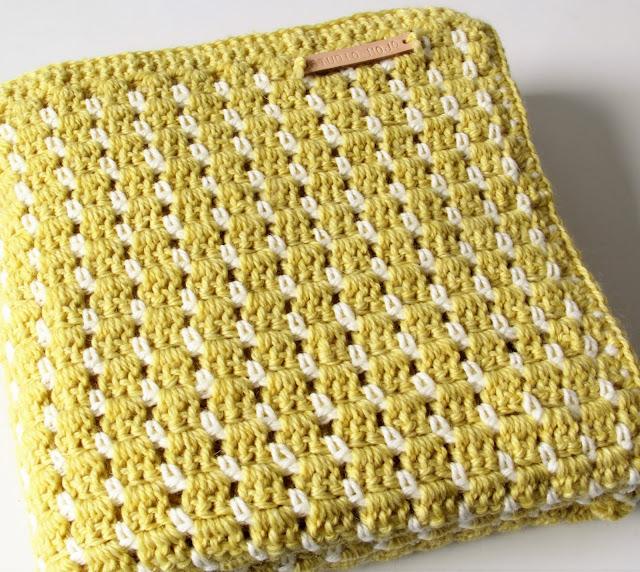 Studio Mojo, haken, babydeken, gratis patroon, vintage look, Sostrene Grene, Gehaakt/ crochet,