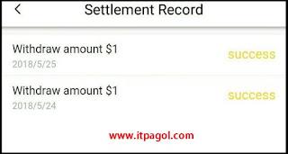 Vigo Video App payment Proof