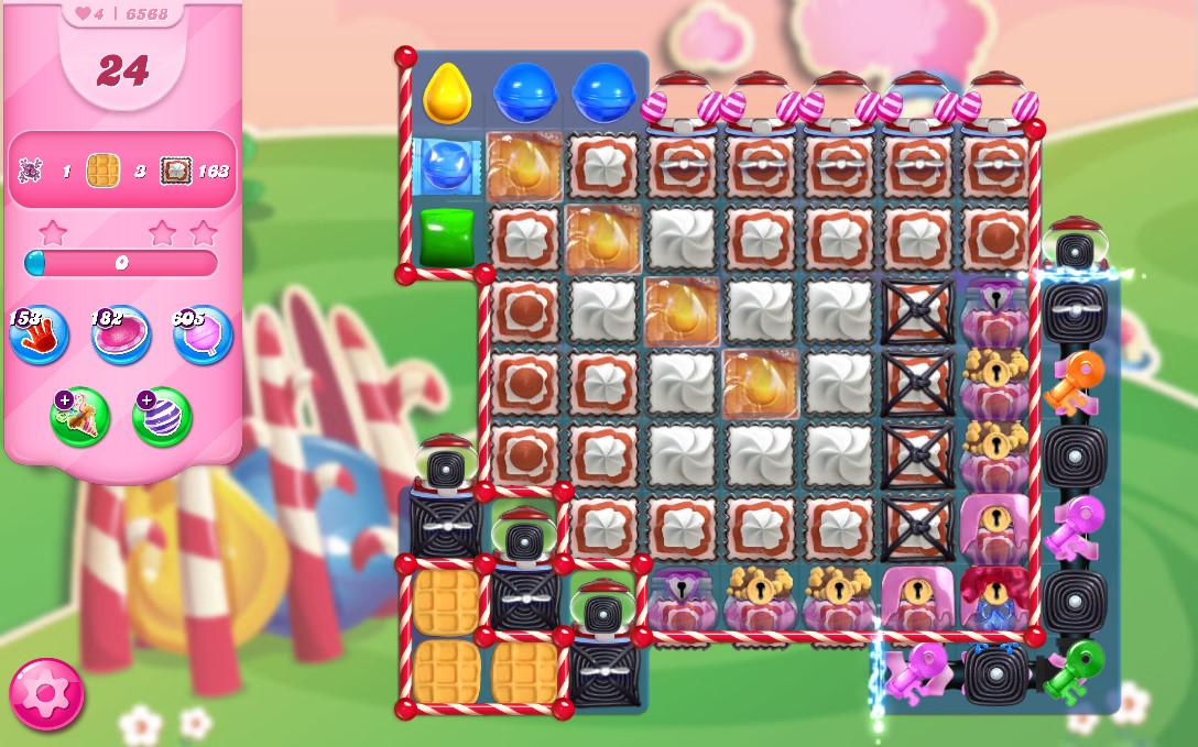 Candy Crush Saga level 6568