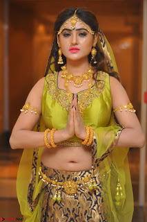 Sony Charishta in Green Choli Ghagra Transparent Chunni Ethnic Wear March 2017 019.JPG