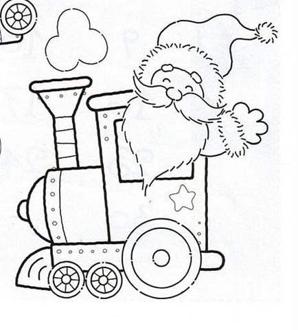 Atividades Educativas Pra Colorir E Imprimir Trenzinho De Natal