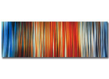 abstract art, contemporary, wall art, multi coloured, brown, blue, orange, white, grey, black, digital painting, panoramic, Sam Freek,