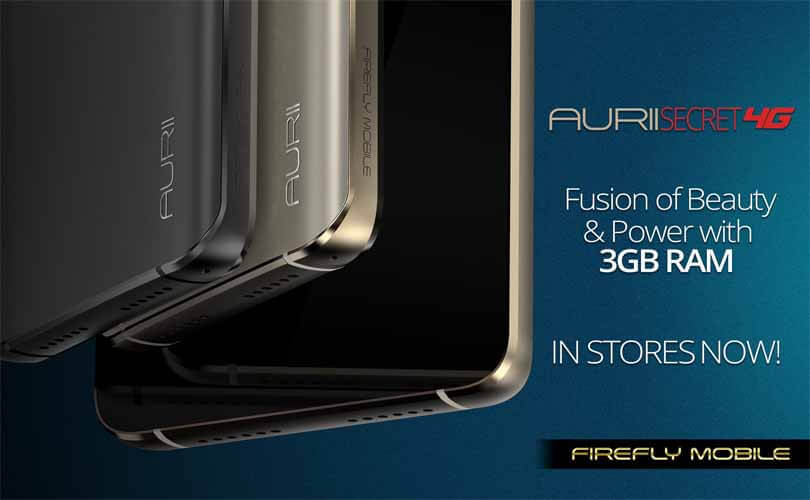 Firefly Mobile's LTE Ready AURII Secret 4G Specifications and Price