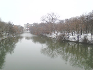 Yambol, River Tundzha, Snowfall,