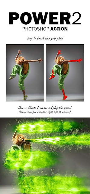 GraphicRiver Power 2 Photoshop Action 13919098