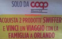 Logo Swiffer e Coop ti regalano un viaggio con la famiglia a Orlando