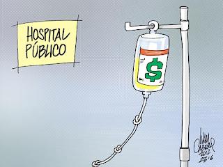 Resultado de imagem para charge hospital publico