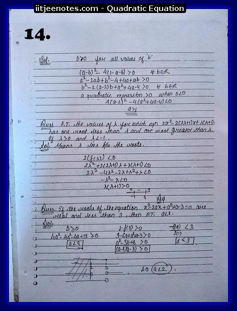 quadratic equation notes cbse4