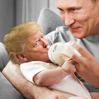 Imágenes de Trump tomando agua photoshopeadas