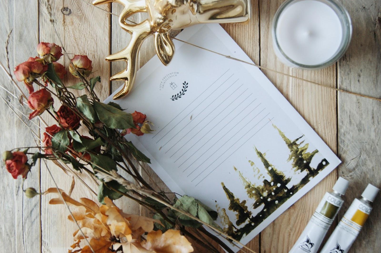 Lista prezentów świątecznych - do druku