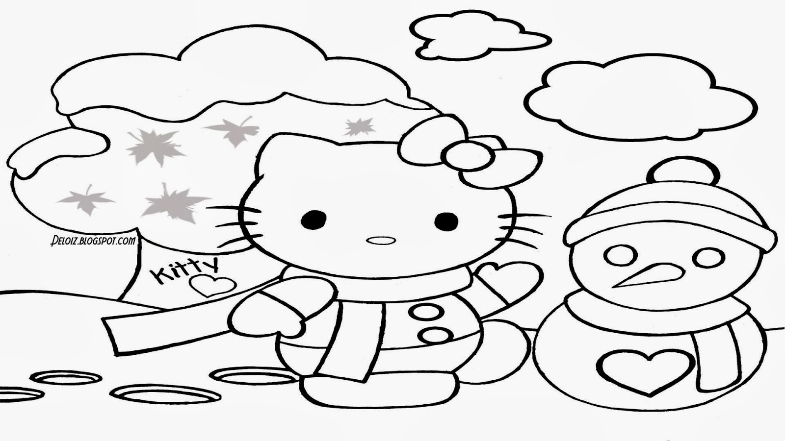 Gambar Hello Kitty Untuk Diwarnai Deloiz Wallpaper
