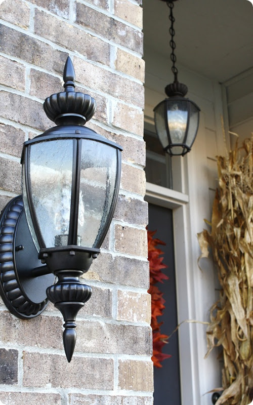 spray painting outdoor light fixtures