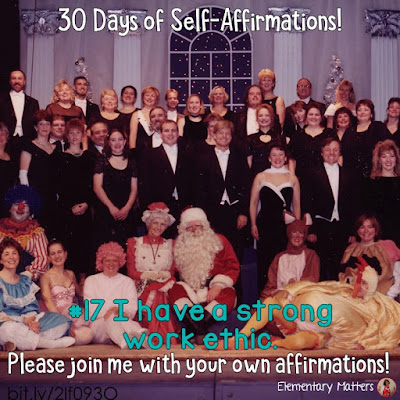 "30 Days of Self-Affirmations: Day 17: I have a strong work ethic! For 30 days, I will be celebrating my own ""new year"" with self-affirmations. If you are interested in joining me, feel free to write your own affirmations here, or respond on my social media here:  http://bit.ly/2lf093O"