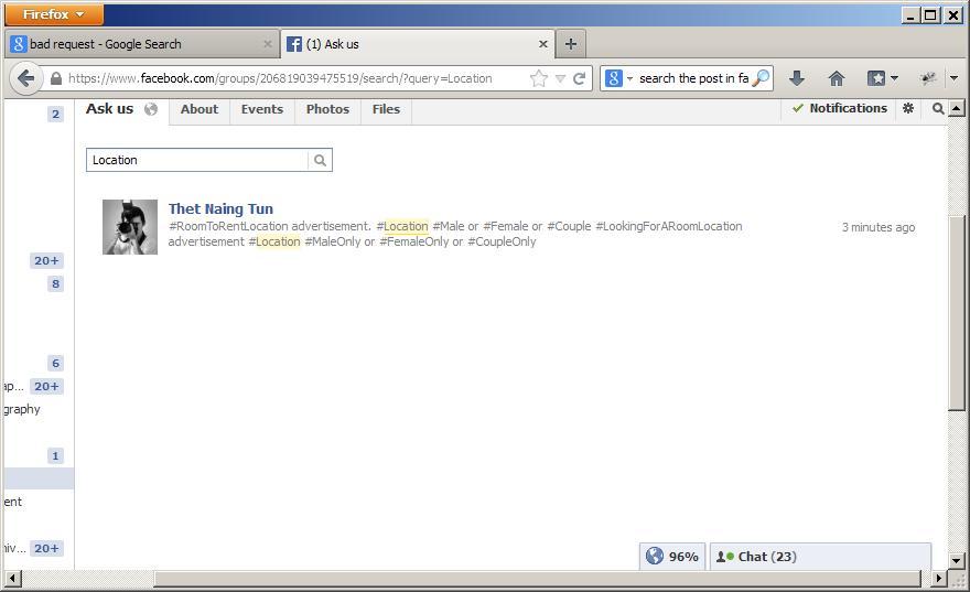Search in Facebook Groups | LIBRATUN