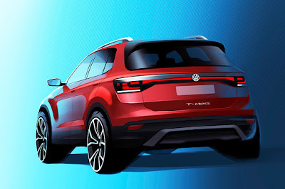 Volkswagen T-Cross Prototype (2018 Rendering) Rear Side