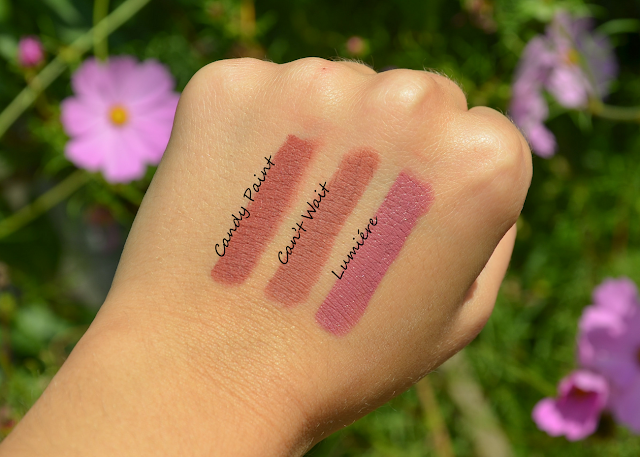 More Colourpop Lippie Stix Swatches (Candy Paint, Can't Wait, Lumiére)